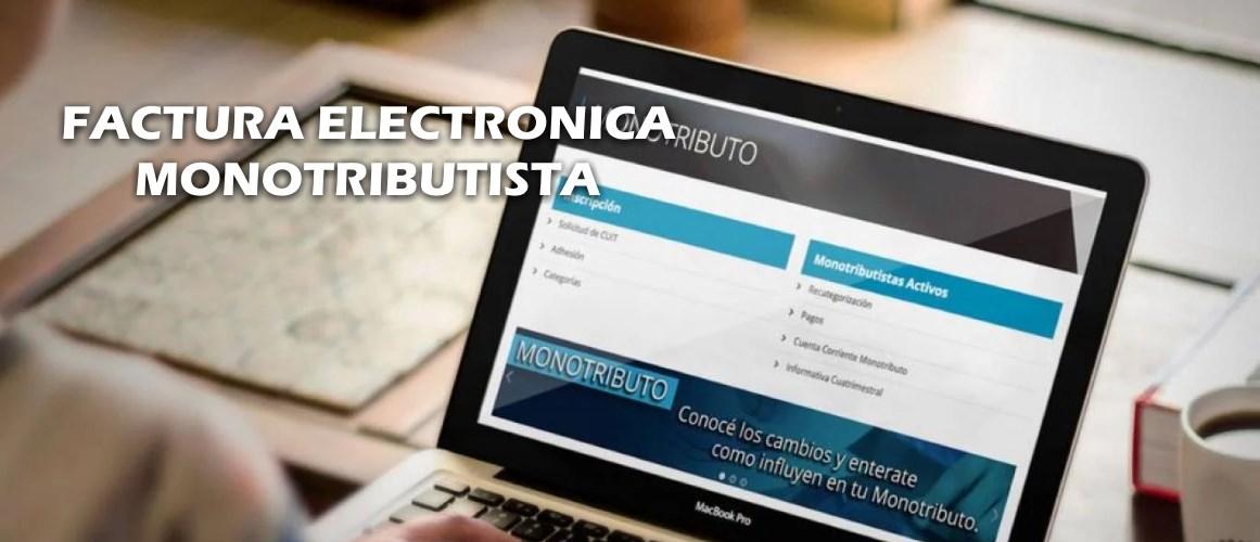 Cómo emitir factura electrónica para monotributista