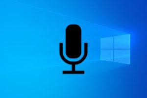 El micrófono en Windows 10