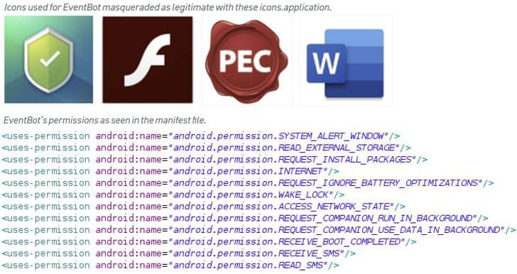 EventBot, malware roba contraseñas bancarias en Android